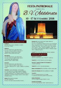 Da lunedì 10 a lunedì 17 settembre si svolgerà a Carbonia la Festa Patronale della Parrocchia Beata Vergine Addolorata.