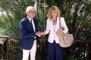 Riunione questa mattina, a Villa Devoto, tra il presidente della Regione Francesco Pigliaru e il ministro per il Sud Barbara Lezzi.