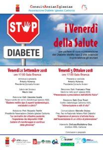 La ConsultAnzianIglesias,Associazione Diabete Iglesias Carbonia, ha organizzato una giornata dedicata al diabete, per domani 21 settembre 2018.