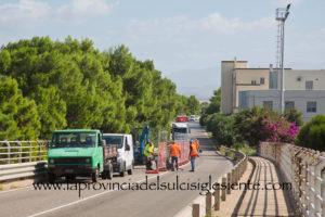 Nelle ultime ore è migliorata la viabilità sul ponte di Sant'Antioco, dove da lunedì mattina sono in corso lavori di manutenzione.