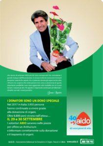 Gianni Ippoliti è il nuovo testimonial della campagna su donazioni e trapianti promossa a AIDO.