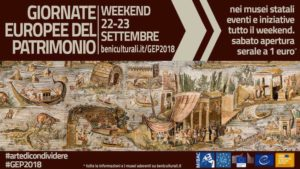 Sabato 22 e domenica 23 settembre, il comune di Carbonia aderisce alle Giornate Europee del Patrimonio (GEP) 2018.