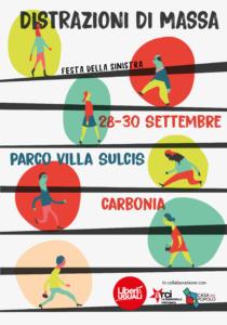 Liberi e Uguali circolo di Carbonia organizza per venerdì 28, sabato 29 e domenica 30 settembre la sua festa annuale al parco di Villa Sulcis, in via Napoli, a Carbonia.