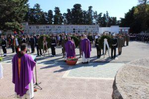 Venerdì 2 novembre, con inizio alle ore 10.30, presso il Sacrario Militare del cimitero di San Michele in Cagliari, avrà luogo la cerimonia di commemorazione dei caduti di tutte le guerre.