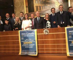 Questa mattina, a Roma, il Comitato Promotore per l'insularità ha tenuto una conferenza stampa per presentare la proposta di legge di iniziativa popolare.