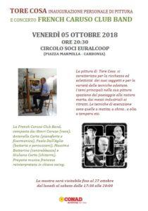 Il Circolo Soci Euralcoop ha organizzato, per venerdì 5 ottobre, alle ore 20.30, una serata all'insegna dell'arte e della musica.