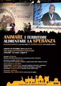 """Sabato mattina l'Aula Magna del Seminario Arcivescovile, a Cagliari, ospiterà un incontro-confronto sul tema """"Animare i territori, alimentare la speranza""""."""