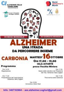 Martedì 16 ottobre la Sala Astarte della Grande Miniera di Serbariu ospiterà un convegno sull'Alzheimer.