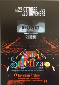 """Lunedì 22 ottobre prenderà il via, a Carbonia, il 2° Festival """"Sulcis Scienza"""", organizzato da S'Ischiglia-Università Popolare del Sulcis (Unisulky)."""