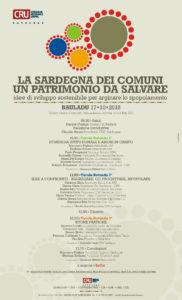 """Mercoledì 17 ottobre, al Centro Civico culturale di Piazza Lussu, a Bauladu, si svolgerà l'iniziativa """"La Sardegna dei Comuni, un patrimonio da salvare""""."""