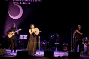 """Francesca Incudine, siciliana di Enna, ha vinto con il brano """"Quantu stiddi"""" il 14° Premio Bianca d'Aponte, il contest italiano riservato alle cantautrici."""