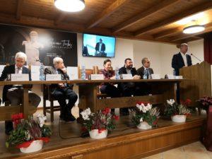 Gli assessori regionali Raffaele Paci e Cristiano Erriu hanno concluso, alla Cantina Santadi, la due giorni dedicata a Giacomo Tachis.