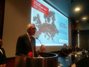 Strategie comuni sui temi dell'insularità tra Sardegna, Corsica e Baleari, al convegno svoltosi oggi al THotel di Cagliari.