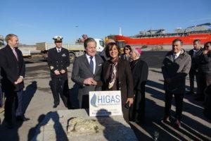 L'assessore regionale dell'Industria ha partecipato questa mattina a Santa Giusta alla cerimonia di inaugurazione del cantiere per la realizzazione del primo deposito costiero di GNL.