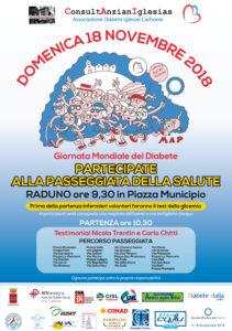 Per il 18 novembre, giornata mondiale del diabete, la Consulta comunale Anziani di Iglesias e l'Associazione Diabete Iglesias Carbonia, hanno organizzato la Passeggiata della salute.