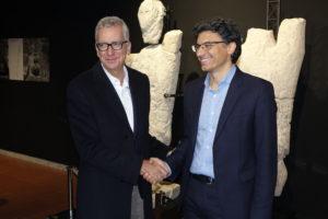 Il governatore Francesco Pigliaru stamane ha visitato il museo di Cabras.
