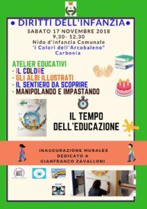 Sabato 17 novembre i bambini dell'asilo nido comunale di Carbonia saranno protagonisti nella Giornata mondiale dei diritti dell'infanzia e dell'adolescenza.