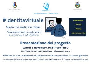 Prende il via il 5 novembre, a Sant'Anna Arresi e Teulada, il progetto #identitavirtuale.