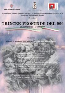 """Si conclude domani, martedì 6 novembre, dalle ore 10.00, nell'aula magna del Liceo Classico """"G. Siotto Pintor"""" di Cagliari, il progetto storico culturale """"Trincee profonde del '900""""."""