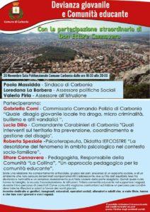 """Il comune di Carbonia ha organizzato per martedì 20 novembre il convegno """"Devianza giovanile e Comunità educante"""", cui parteciperà don Ettore Cannavera."""