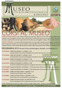 Sémata società cooperativa ed il Museo Civico Archeologico di Santadi hanno organizzato i corsi di storia sarda e di ceramica.