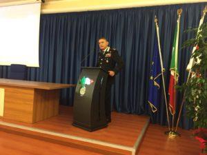 L'anatomopatologo Roberto Demontis stamane ha tenuto un seminario di aggiornamento professionale nella sala di rappresentanza del Comando Legione Carabinieri Sardegna.