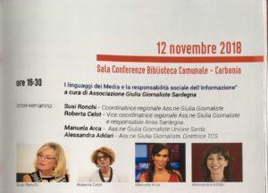"""Lunedì pomeriggio, la Biblioteca comunale di Carbonia, nell'ambito del festival """"Sulcis Scienza"""", ospiterà una conferenza sul linguaggio dei media e la responsabilità sociale dell'informazione."""