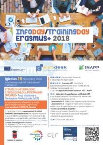 L'Amministrazione comunale di Iglesias, in collaborazione con l'ufficio Informagiovani-Eurodesk del Comune, ha organizzato il seminario TrainingDay Erasmus+ VET che si terrà venerdì 16 novembre.