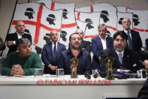 Matteo Salvini a Cagliari: «Il candidato governatore del centrodestra lo sceglierà la coalizione».