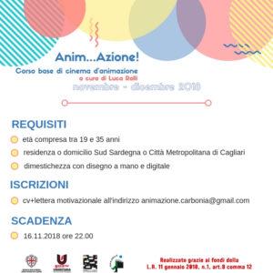 Il Centro Servizi Culturali Carbonia della Società Umanitaria propone Anim…azione! – Corso base di cinema d'animazione.