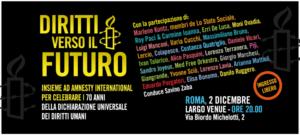 Partono da Rovigo e passano da Roma gli appuntamenti che vedono coinvolti Arte per la libertà ed Amnesty International Italia per festeggiare i 70 anni della Dichiarazione universale dei diritti umani.