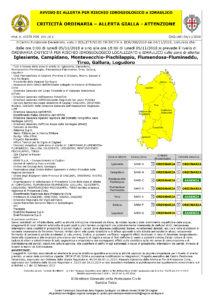 Piove ininterrottamente ormai da ore ed il Centro Funzionale Decentrato della Protezione civile ha emesso un nuovo avviso di allerta gialla per rischio idrogeologico.