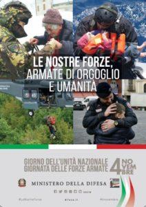 """Domenica 4 novembre 2018 le Forze Armate e la Guardia di Finanza celebrano, su tutto il territorio nazionale, il """"Giorno dell'Unità Nazionale e Giornata delle Forze Armate""""."""