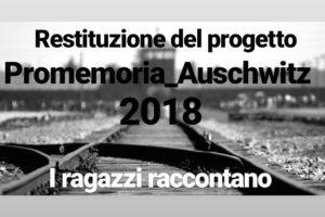Alle 18.00,presso il centro di aggregazione sociale di Masainas, i giovani che hanno partecipato al progetto Promemoria_Auschwitz 2018 racconteranno la loro esperienza e testimonianza.