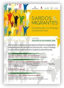 """Giovedì 20 dicembre a Iglesias si terrà l'iniziativa di informazione e sensibilizzazione """"Sardos e Migrantes"""" promossa dalla Regione Sardegna in collaborazione con il comune di Iglesias e Casa Emmaus."""