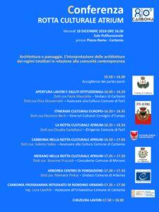 Martedì 18 dicembre Carbonia compirà 80 anni e festeggerà questa ricorrenza alle ore 16.00 in sala polifunzionale insieme ai cittadini e ai principali membri della rotta culturale ATRIUM.