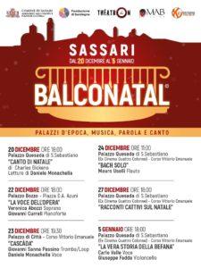 Balconatal, dal 20 dicembre al 5 gennaio i balconi dei Palazzi del centro di Sassari si trasformano in palcoscenici.