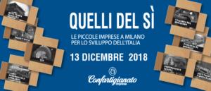 Le imprese artigiane della Sardegna in piazza a Milano, il 13 dicembre, per dire SI' allo sviluppo dell'Italia e dell'Isola.