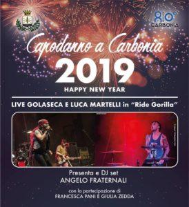 Sarà un Capodanno speciale quello che festeggerà la città di Carbonia, con i Golaseca e Luca Martelli.