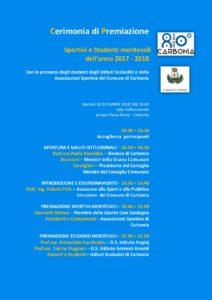 Martedì mattina l'Amministrazione comunale di Carbonia premierà gli studenti e gli sportivi che si sono distinti per i risultati raggiunti nel corso dell'anno 2017-2018.