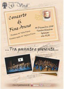 """Il 30 dicembre, alle ore 19.30, al Teatro Electra di Iglesias, si terrà il """"Concerto di Fine Anno"""" del Circolo Musicale Giuseppe Verdi di Iglesias."""