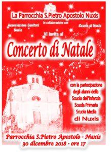 La parrocchia di San Pietro Apostolo, a Nuxis, sarà teatro domani, domenica 30 dicembre, dalle ore 17.00, del Concerto di Natale.