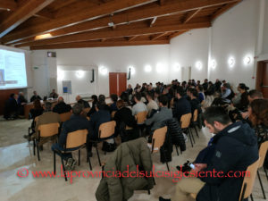 """La sala conferenze del Centro Ricerche della Sotacarbo ieri ha ospitato il workshop """"Più efficienza: obiettivo Comune""""."""