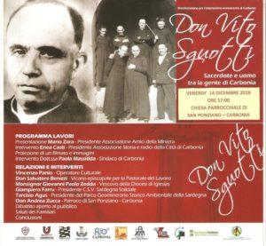 Venerdì pomeriggio si terrà a Carbonia un convegno su Don Vito Sguotti, sacerdote e uomo tra la gente di Carbonia.