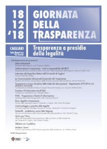 """Il 18 dicembre, a Cagliari, si terrà una giornata sul tema """"La Trasparenza a presidio della legalità""""."""