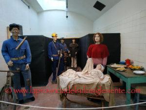 """E' stata inaugurata ieri pomeriggio, nella Sala Docce del Museo del Carbone, alla Grande Miniera di Serbariu, l'8ª mostra""""In Miniera tra i presepi""""."""
