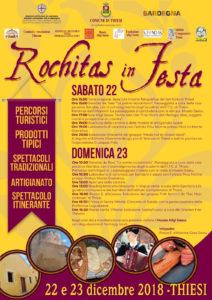 "Nel weekend Thiesi si anima con ""Rochitas in festa""."
