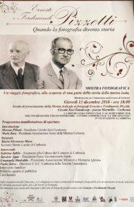 Giovedì 13 dicembre, presso il Circolo Soci Euralcoop di piazza Marmilla, verrà inaugurata la mostra dedicata ai fotografi Ernesto e Ferdinando Pizzetti.