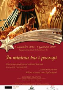 """Domani, sabato 8 dicembre, alle ore 16.00, al Museo del Carbone, verrà inaugurata l'8ª mostra """"In Miniera tra i presepi""""."""