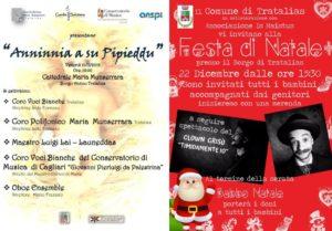 L'Amministrazione comunale di Tratalias presenta gli eventi che si terranno presso il borgo medioevale nelle giornate del 21 e del 22 dicembre.